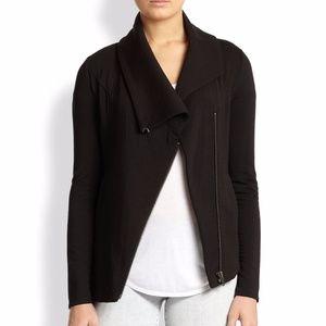 Helmut Lang Villous Asymmetrical Knit Jacket